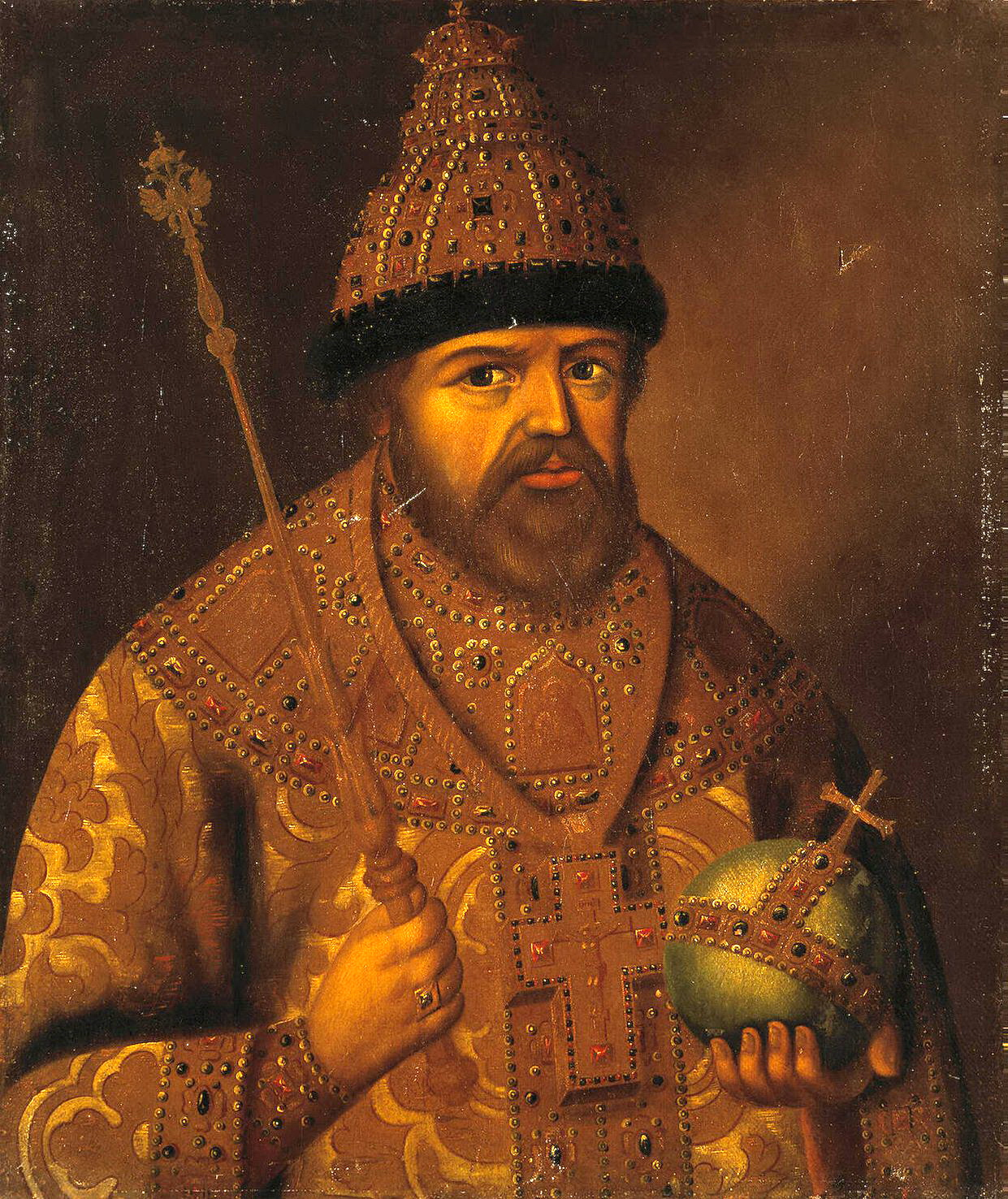 Портрет царя Алексея Михайловича, неизвестный русский художник