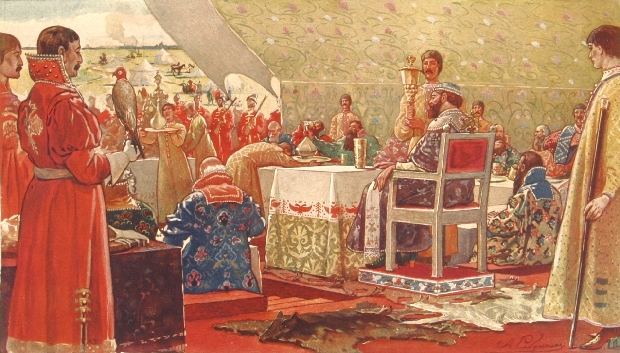 Пир царя Алексея Михайловича с ближними боярами в отъезжем поле, Андрей Петрович Рябушкин