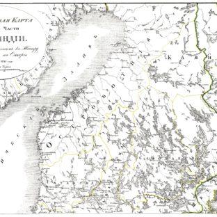Генеральная карта Северной части Финляндии, служащая дополнением к Театру великой войны на Севере с 1700 по 1721 год, Д. П. Бутурлин