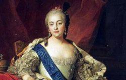 Портрет императрицы Елизаветы Петровны, Шарль-Андре ван Лоо, миниатюра к картине