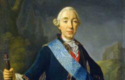 Коронационный портрет императора Петра III Фёдоровича, Л. К. Пфанцельт, миниатюра к картине