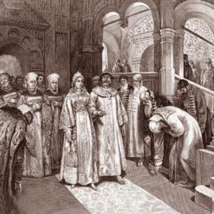 1526 г. Василий III, великий князь Московский, вводит во дворец невесту свою, Елену Глинскую, Клавдий Васильевич Лебедев