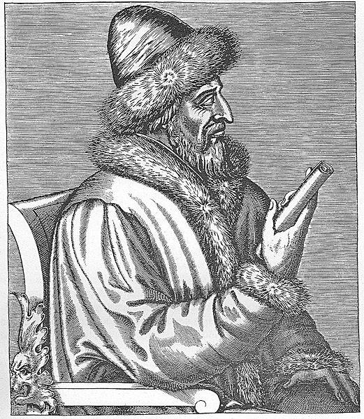Великий князь Василий III Иоаннович, гравюра Андре Теве