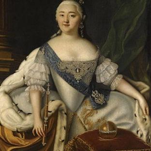 Портрет императрицы Елизаветы, Луи Каравак