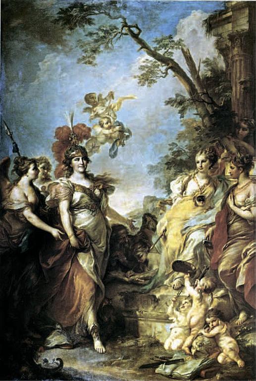 Екатерина II в образе Минервы, покровительницы искусств, Стефано Торелли