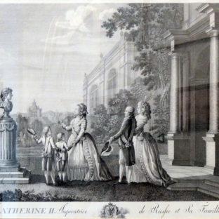 Екатерина со своей семьей, Бергер с оригинала Антинга