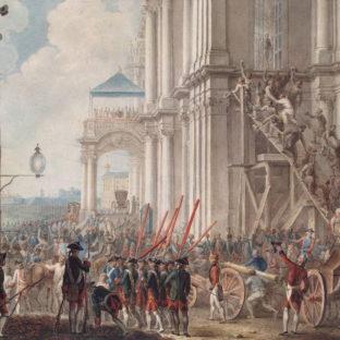 Екатерина II на балконе Зимнего дворца, приветствуемая гвардией и народом в день переворота 28 июня 1762 года, Иоахим Кестнер