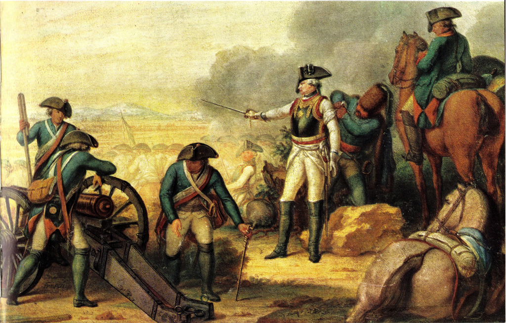 Зейдлиц в битве при Росбахе, Иоганн Кристоф Фриш, Дэниел Бергер (гравер)