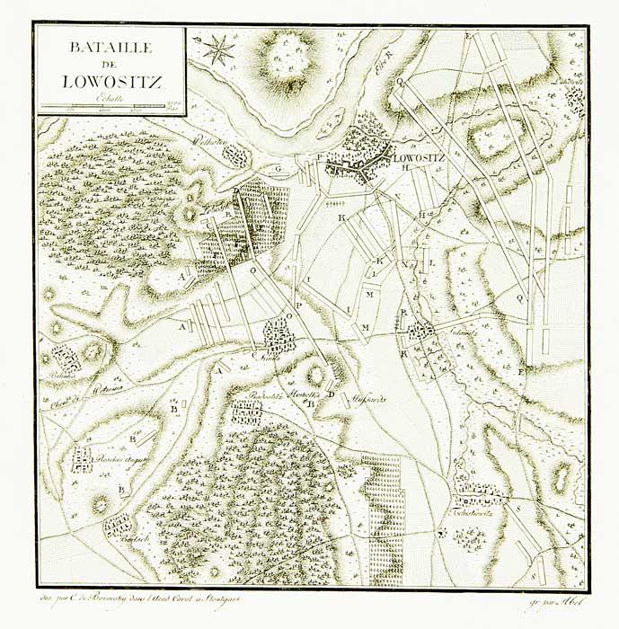 Битва при Лобозице, карта-схема