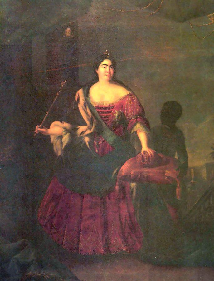 Екатерина I с арапчонком, Иван Адольский