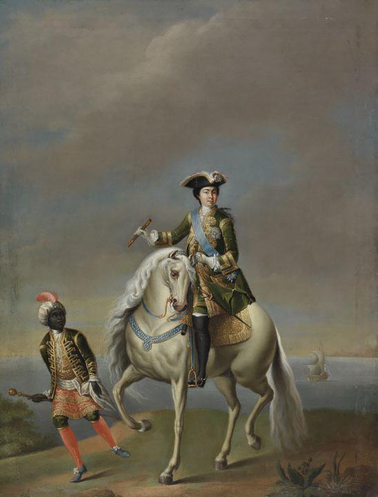 Конный портрет императрицы Екатерины I, Георг Кристоф Гроот