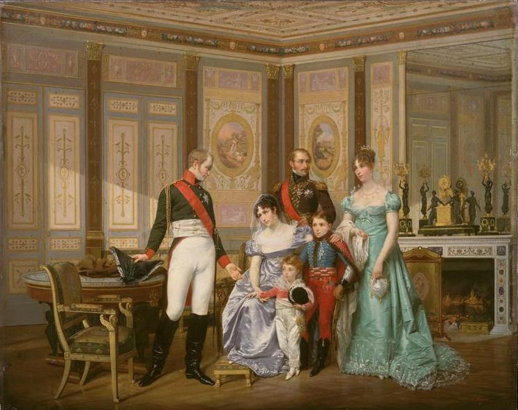 Императрица Жозефина принимает в Мальмезоне визит царя Александра I, Жан-Луи Виктор Вигер дю Виньо и Гектор Вигер