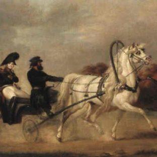 Император Александр I в коляске, А. И. Зауервейд