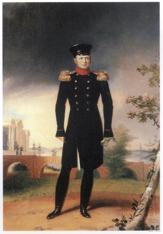 Портрет императора Александра I на фоне Камероновой галереи, Джордж Доу