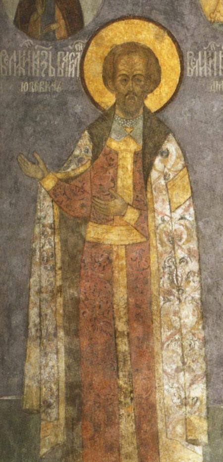 Василий Юрьевич Косой, Роспись Архангельского собора Московского Кремля