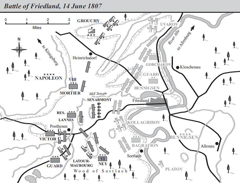 Битва под Фридландом, карта, Грегори Фримонт-Барнс