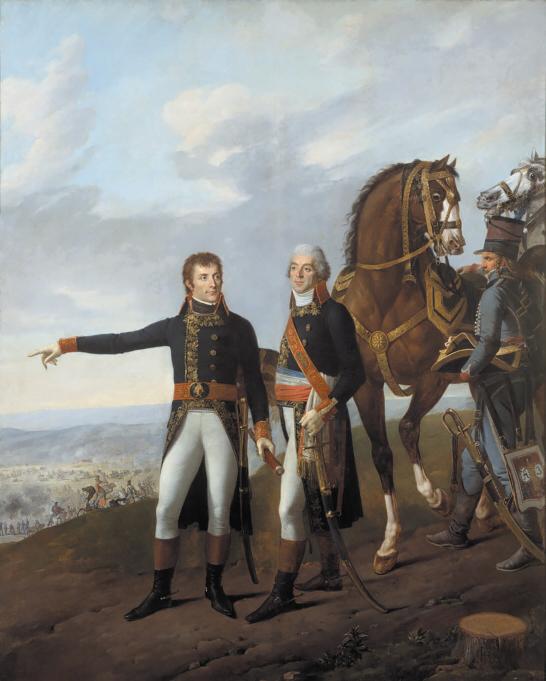 Бонапарт и его начальник штаба Бертье в битве при Маренго, Жозеф Бозе, Робер Лефевр, Карл Верне