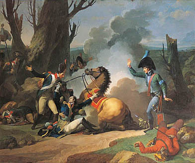 Смертельные травмы генерала Вальхуберт в битве при Аустерлице, Жан-Франсуа-Пьер Пейрон