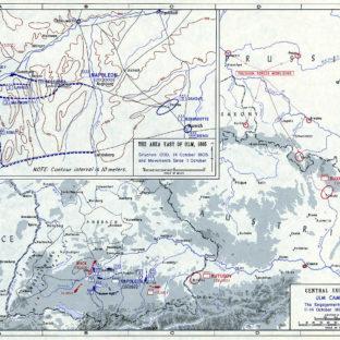 Ульмская кампания - сражения вокруг Ульма, 11-14 октября 1805 г., карта