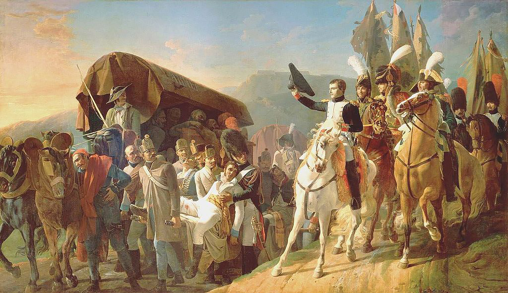 Наполеон отдает дань мужеству солдат после битвы при Ульме, Жан-Батист Дебре